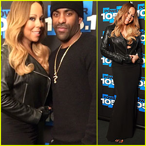 Mariah Carey Flashes Black Bra at Power 105.1 Appearance!