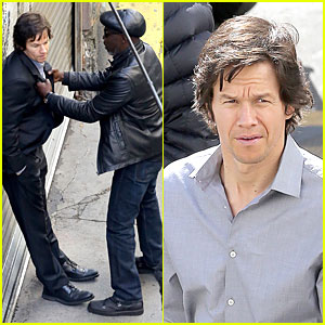 Mark Wahlberg: All Ruffled Up By Michael K. Williams on 'The Gambler'!