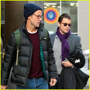 Matt Bomer & Partner Simon Halls Check Out of NYC Hotel