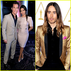 Matthew McConaughey & Jared Leto - Oscars Nominees Luncheon 2014