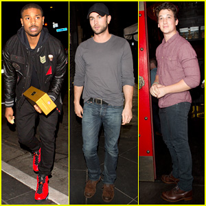 Michael B. Jordan & Chace Crawford Celebrate Mile