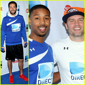 Michael B. Jordan & Scott Porter: 'Friday Night Lights' Reunion at DirecTV Beach Bowl 2014