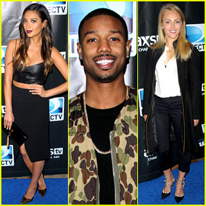 Michael B. Jordan & Shay Mitchell: DirecTV's Super Bowl Party!