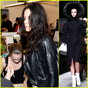 Michelle Rodriguez Supports Rumored Girlfriend Cara Delevingne at Fendi Show