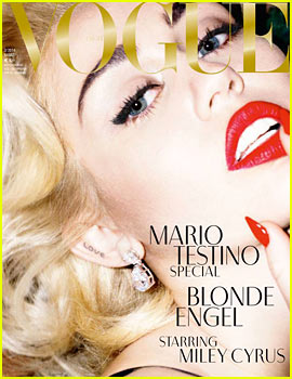 Miley Cyrus: 'Blonde Angel' for 'Vogue Germany' March 2014