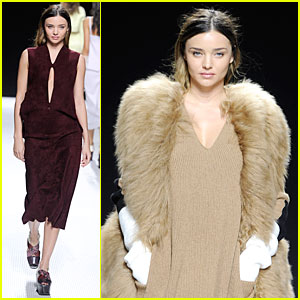 Miranda Kerr Walks Sonia Rykiel Fashion Show!