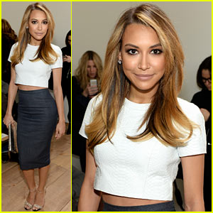 Naya Rivera Shows Some Toned Midriff at Michael Kors Show
