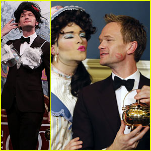 Neil Patrick Harris Rocks Fuzzy Bra for Hasty Pudding Ceremony