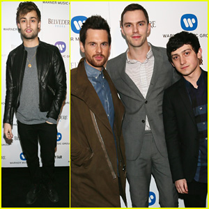 Nicholas Hoult & Douglas Booth: BRIT Awards Warner Music After Party!