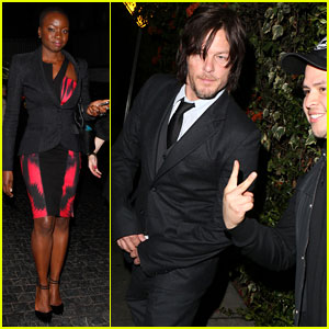 Norman Reedus Attends 'The Walking Dead' Premiere Party