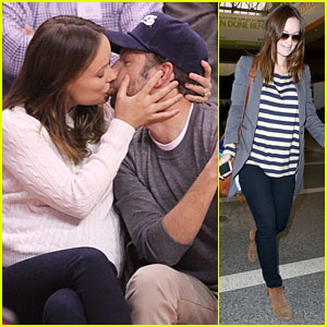 Olivia Wilde & Jason Sudeikis Passionately Kiss at Clippers Game!