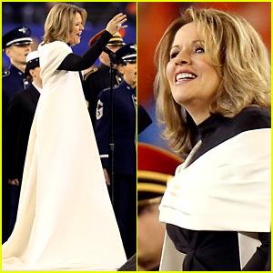 Opera Singer Renee Fleming Sings the National Anthem at Super Bowl 2014 (Video) - Watch Now!