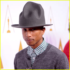 Pharrell Williams Gets New Hat for Oscars Nominees Luncheon!