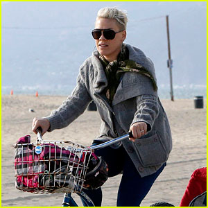 Pink Goes for Bike Ride After Finishing 'Truth About Love' Tour!