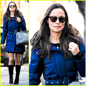 Pippa Middleton Braves Cold London Weather in Short Skirt!