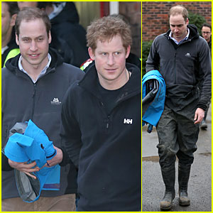 Prince William & Prince Harry Help Defend Against UK Floods!