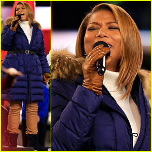 Queen Latifah Sings 'America the Beautiful' at Super Bowl 2014 - Watch Now!