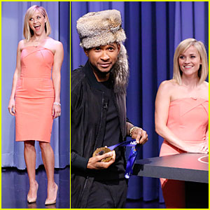 Reese Witherspoon: Catch Phrase with Usher on 'Tonight Show'!