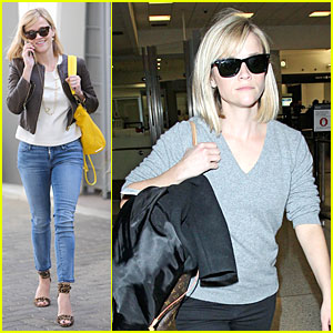 Reese Witherspoon: Fierce Errand Run Following LAX Landing!