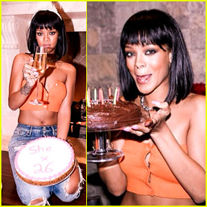 Rihanna Celebrates Turning 26 with Birthday Cake, Cake, Cake!