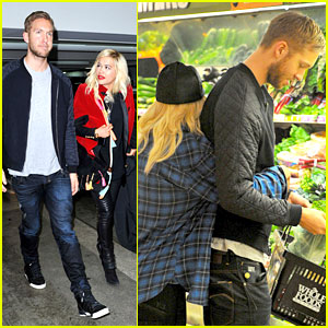 Rita Ora Can't Keep Her Hands Off Boyfriend Calvin Harris!
