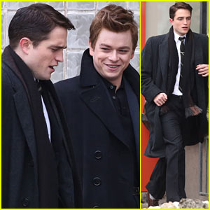 Robert Pattinson Wears His Suit Well on 'Life' Set with Dane DeHaan