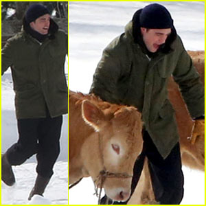 Robert Pattinson's Co-Stars for Day on 'Life' Set: Two Cows!