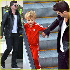 Robin Thicke is a Doting Dad, Holds Son Julian's Hand During Outing