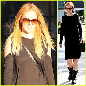 Rumer Willis Rocks Lighter Hair at Andy LeCompte Salon!
