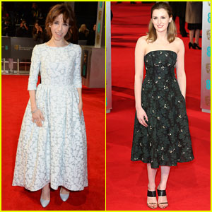 Sally Hawkins & Laura Carmichael - BAFTAs 2014 Red Carpet