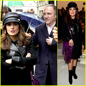 Salma Hayek: Gucci Fashion Show with Francois-Henri Pinault!