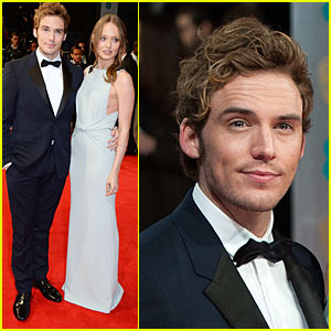 Sam Claflin - BAFTAs 2014 with Wife Laura Haddock!