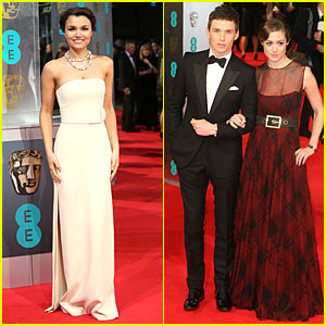 Samantha Barks & Eddie Redmayne - BAFTAs 2014 Red Carpet
