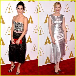 Sandra Bullock & Cate Blanchett - Oscars Nominees Luncheon 2014