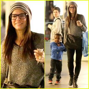 Sandra Bullock Takes Louis To See 'The Lego Movie'!