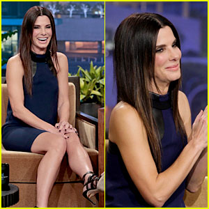 Sandra Bullock Visits Jay Leno for His Second to Last Show!
