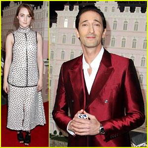 Saoirse Ronan & Adrien Brody: 'Grand Budapest Hotel' Premiere!