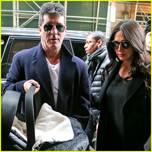 Simon Cowell & Lauren Silverman Leave Hospital with Baby Eric