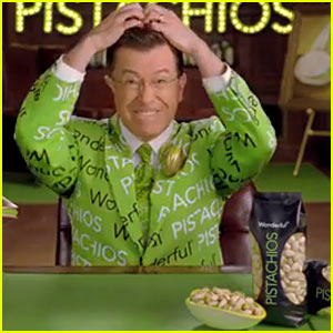 Stephen Colbert Cracks His Head for Wonderful Pistachios Super Bowl Commercial 2014 (Video)