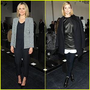 Taylor Schilling & Caitlin FitzGerald: Theory Fashion Show!