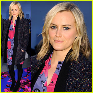 Taylor Schilling Goes Floral for Thakoon's Fashion Week Show