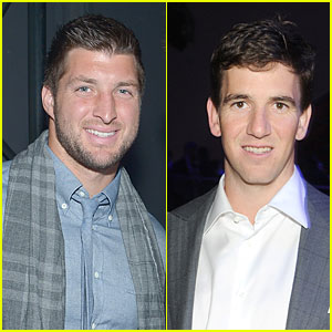 Tim Tebow & Eli Manning: Football Studs at DirecTV Super Bowl Party!