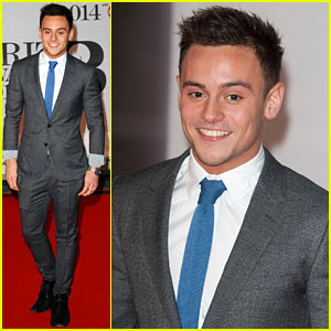 Tom Daley - BRIT Awards 2014 Red Carpet