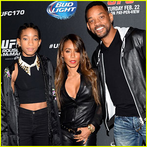 Will Smith & Wife Jada Pinkett: UFC Las Vegas Event with Daughter Willow!