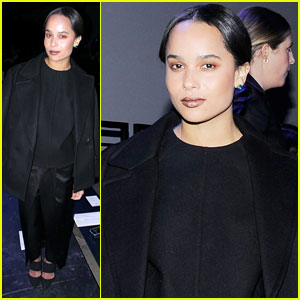 Zoe Kravitz: Alexander Wang Fashion Show with Anne V & Karlie Kloss