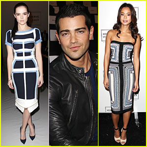 Zoey Deutch & Jamie Chung: Herve Leger by Max Azria Fashion Show!