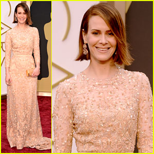 12 Years a Slave's Sarah Paulson - Oscars 2014 Red Carpet