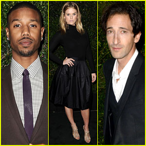 Alice Eve & Michael B. Jordan: Chanel & Charles Finch Pre-Oscars Dinner with Adrien Brody