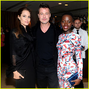 Angelina Jolie & Brad Pitt: '12 Years' Dinner with Lupita Nyong'o!