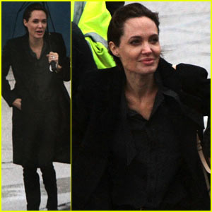 Angelina Jolie Arrives in Sarajevo to Meet Victims of Bosnian War